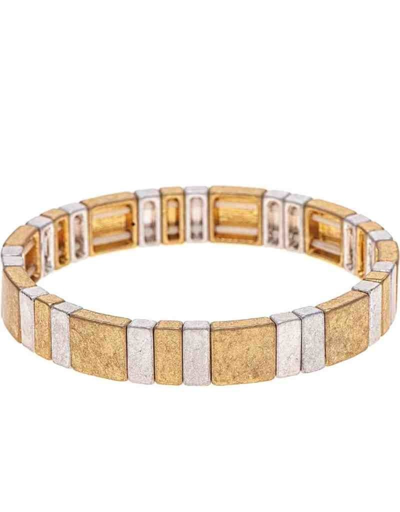 2-Tone Alternating Bars Bracelet