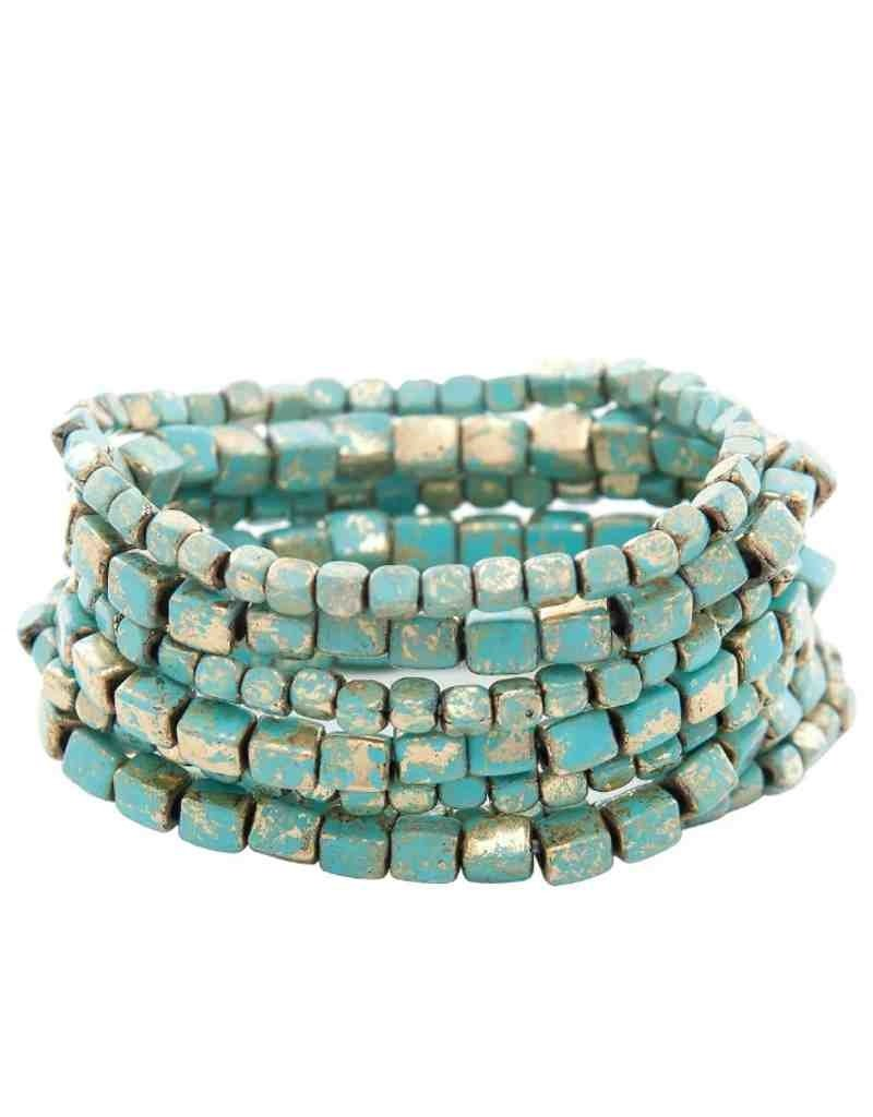 Painta Square Bead Bracelet
