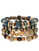 Natural & Wood Bead Bracelet