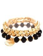 Gold Bead Bracelet Set