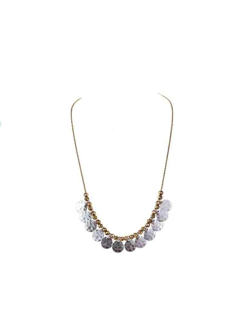 2-Tone Drops Short Necklace