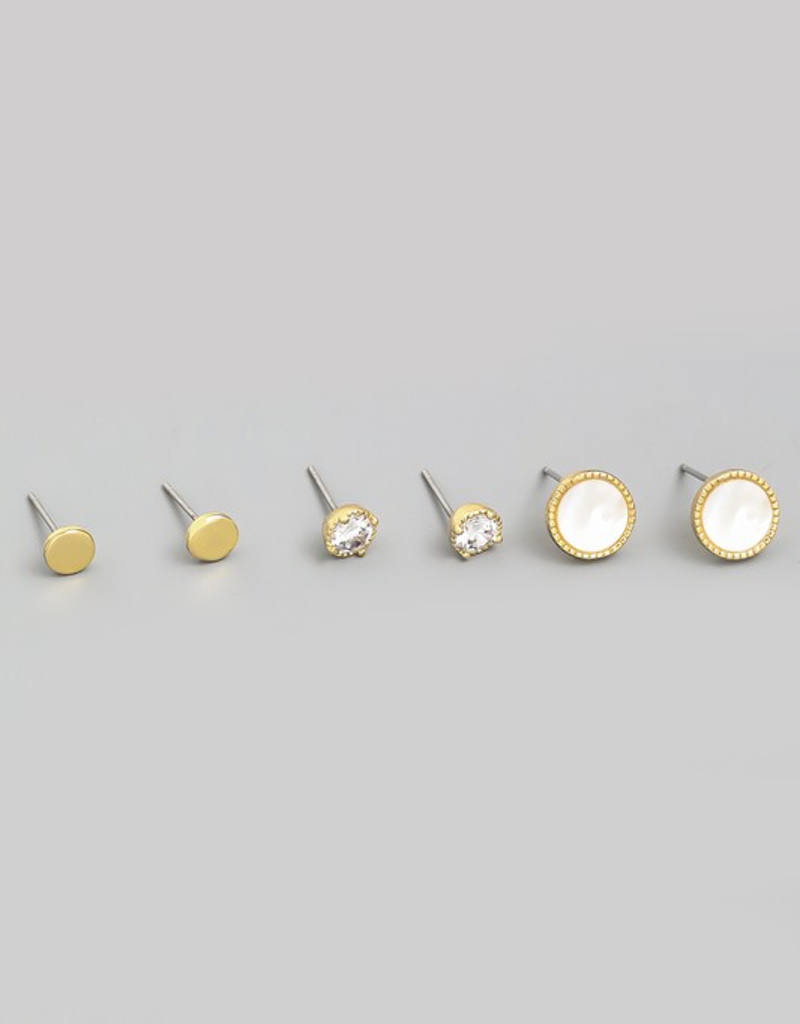 Circle Stud Earrings Set