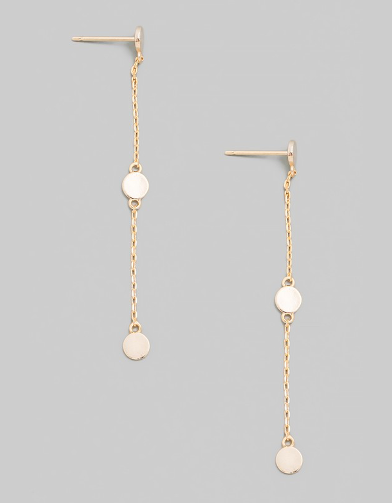 Dainty Disc Chain Earrings