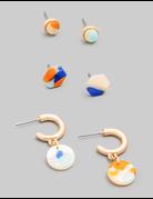 Acetate Stud Earrings Set