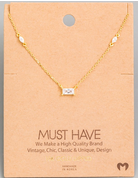 Dainty Rectangle Crystal Necklace