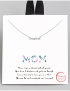 Dainty Mama Pendant Necklace