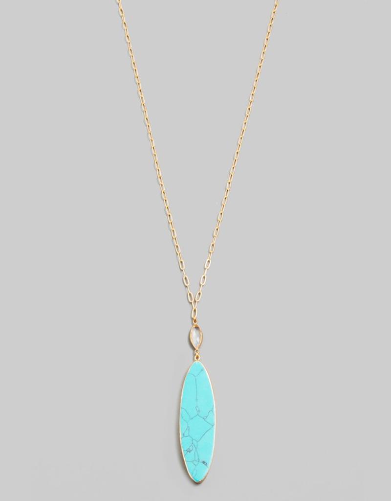 Oval Semiprecious Necklace
