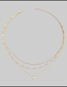 Dainty Layered Min Stud Necklace