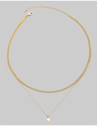 Layered Chain Mini Coin Necklace
