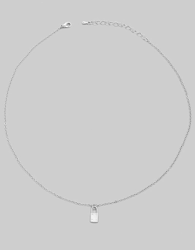 Mini Dainty Lock Necklace