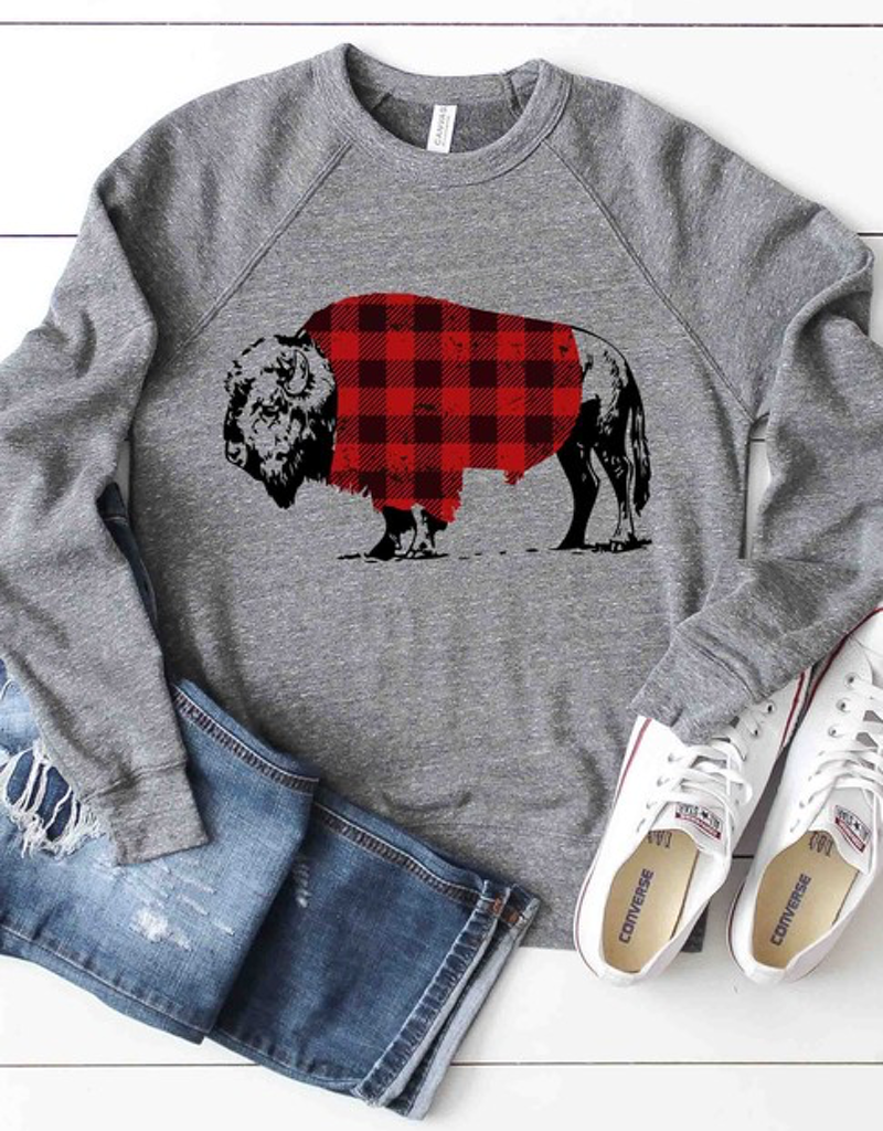Plaid Buffalo Graphic Sweatshirt