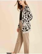 Leopard Print Sweater Cardigan