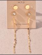 3 Piece Dangle Earring Set