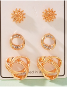 Chunky Gold Earring Set