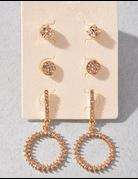 Golden Sun Earring Set