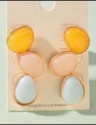Pastel Stone Earring Set
