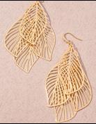 Layered Leaf Earring