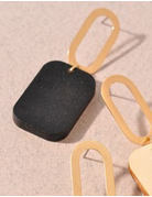 Square & Oval Drop Earring