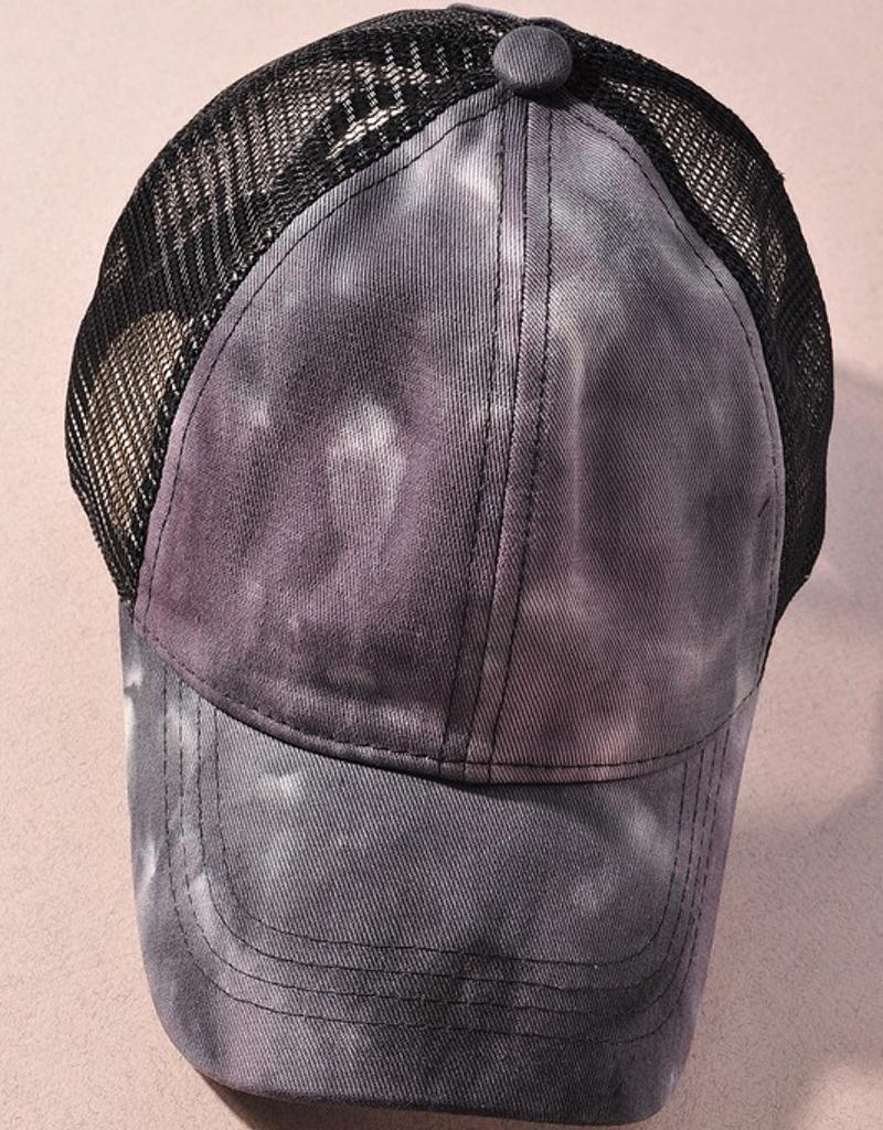 Tie Dye Pony Tail Hat