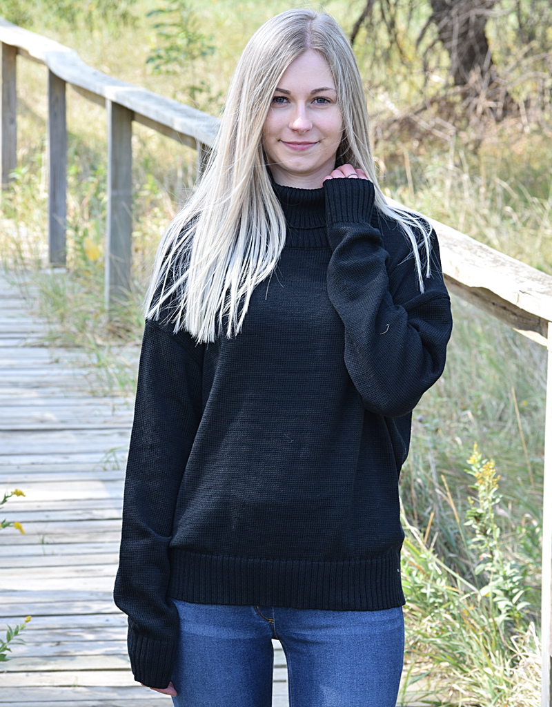 Relaxed Cozy Turtle Neckline Sweater