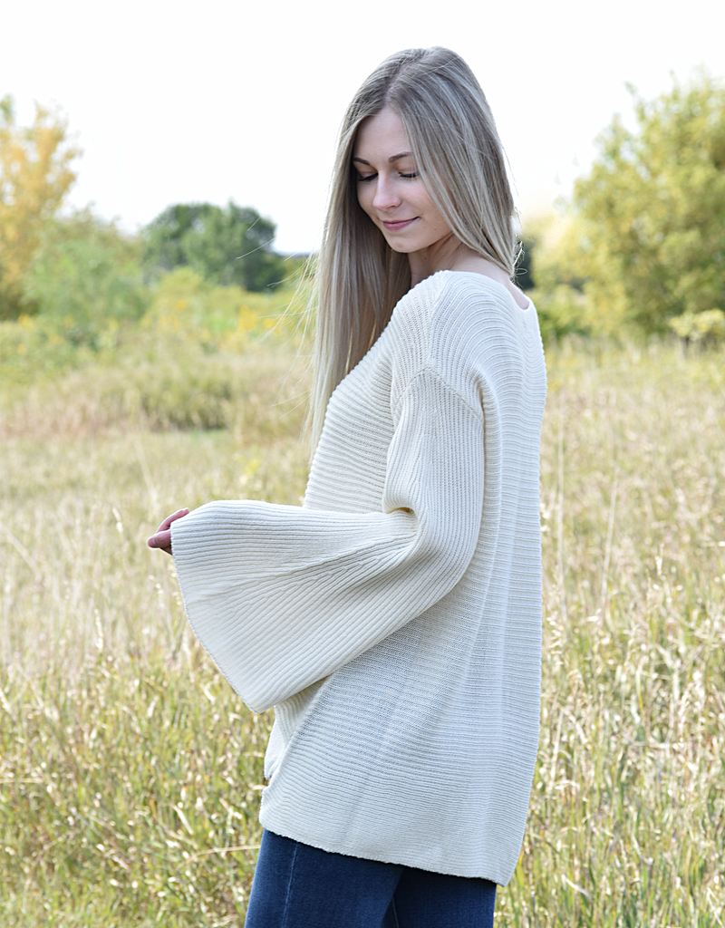 Bell Sleeves Knit Sweater