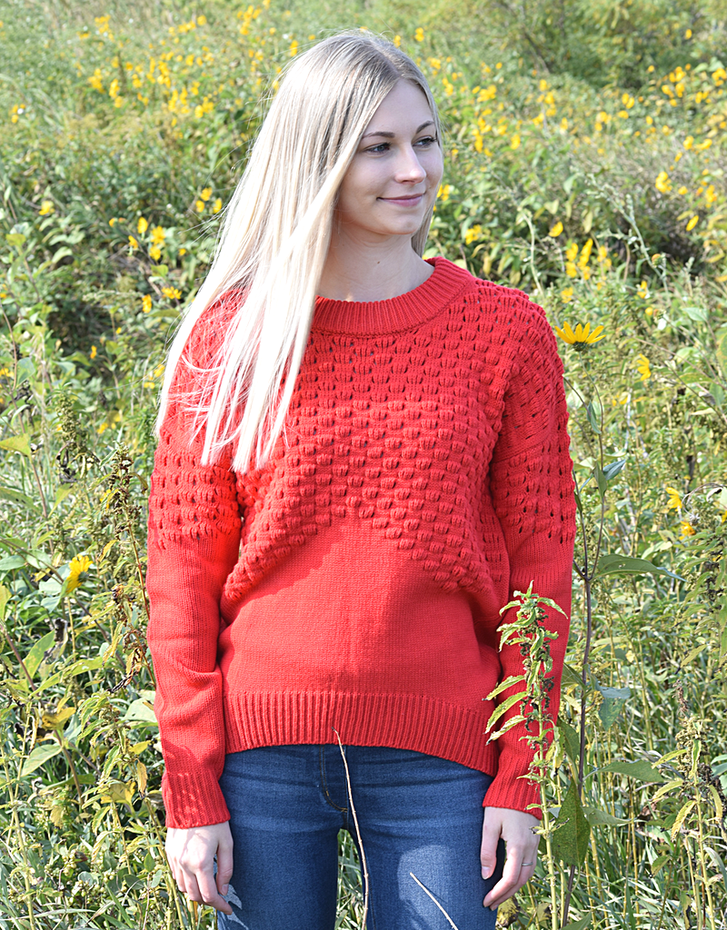 Perfect Sunday Cable Knit Sweater Top