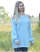 Off Shoulder Long Sleeves Knit Top