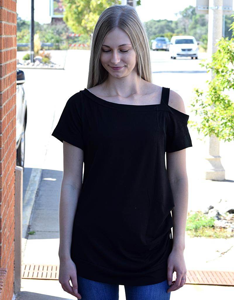 Short Sleeve Casual Buttoned Top