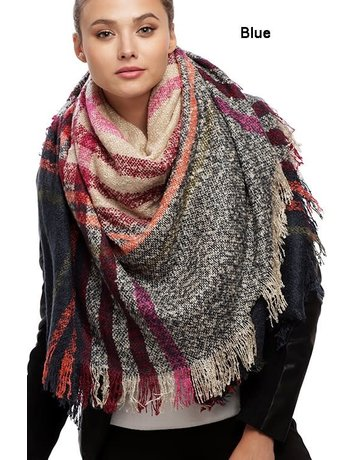 Suzie Q Plaid Blanket Scarf