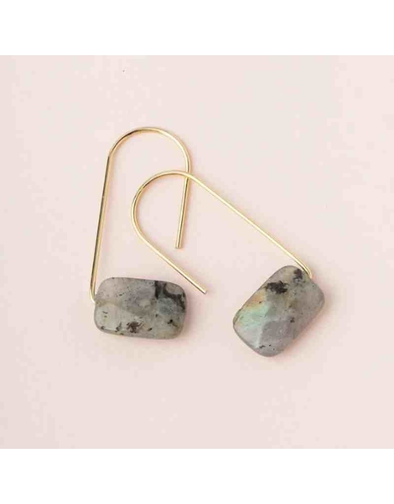 Floating Stone Earring