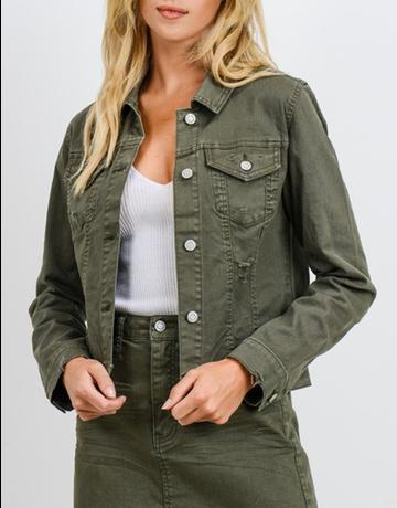Denim Distressed Colored Jacket