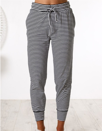 Striped Casual Joggings
