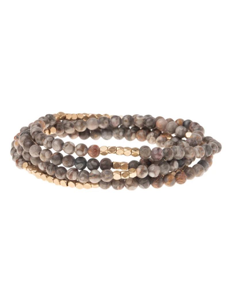 Rhyolite Wrap Bracelet/Necklace