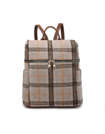 Andi Plaid Backpack
