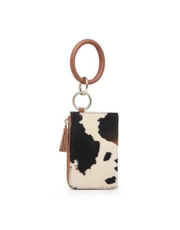 Animal Print Bangle Wristlet/Wallet