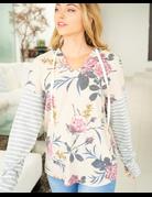 Long Sleeve Multi Print Knit Sweater