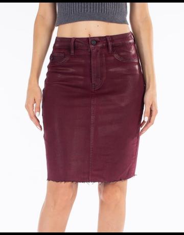 Coated Midi Skirt