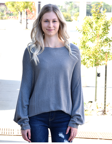 Dolman Sleeves Slouchy Sweater