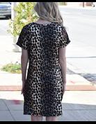 Short Sleeve Side Knot T-Shirt Dress