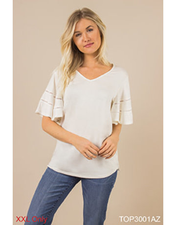 Wingin' It Flutter Sleeve Top