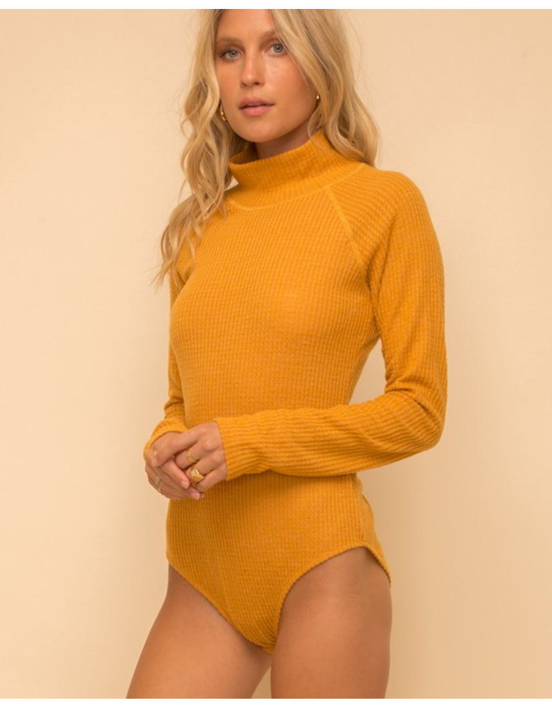 Knit Turtle Neck Bodysuit