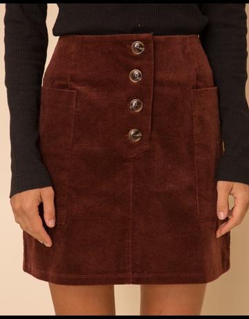 Wide Pocket Corduroy Skirt