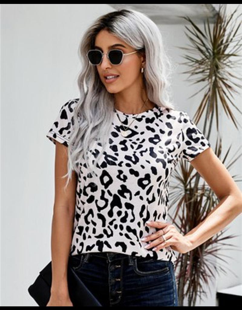 Chic Leopard Print Short Sleeve