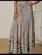 High Waist Pleated Maxi Skirt