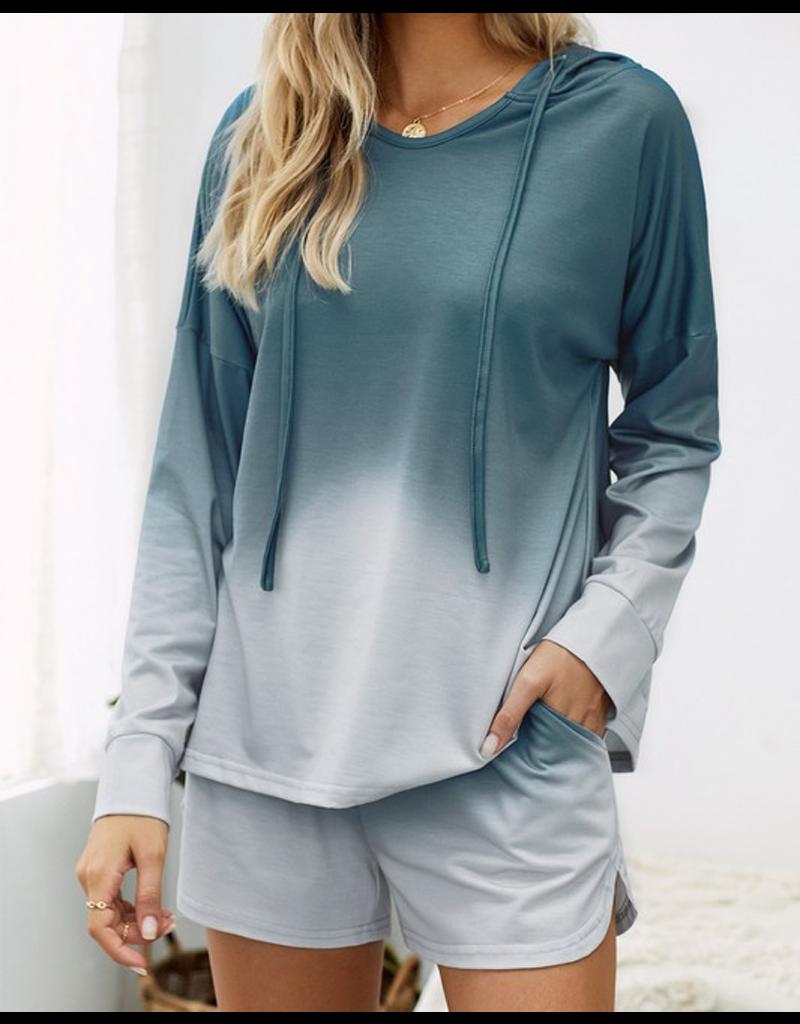 Dip Dye Hooded Lounge Sweatshirt