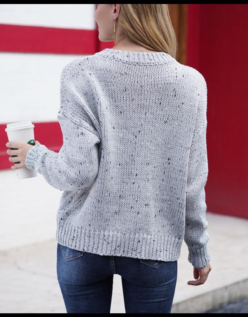 Round Neck Speckled Sweater