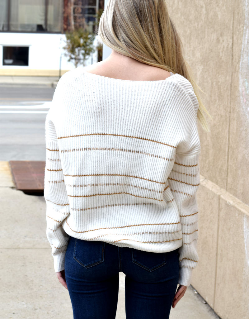 Knitted Striped Sweater