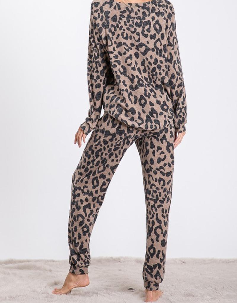 Leopard Swearer Knit Pants