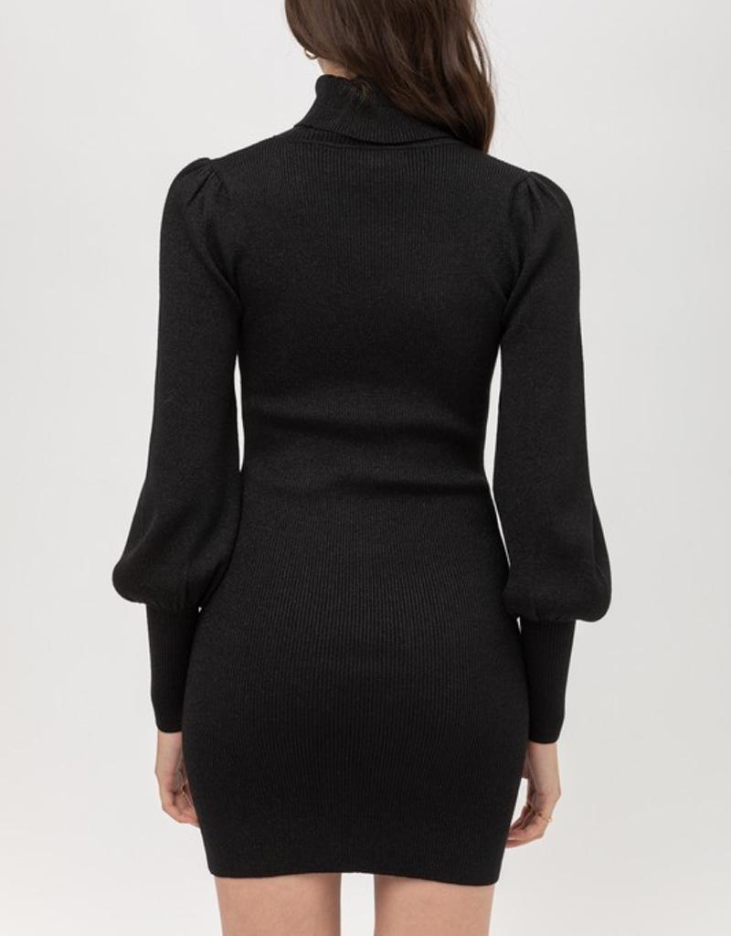 Puff Sleeve Sweater Dress