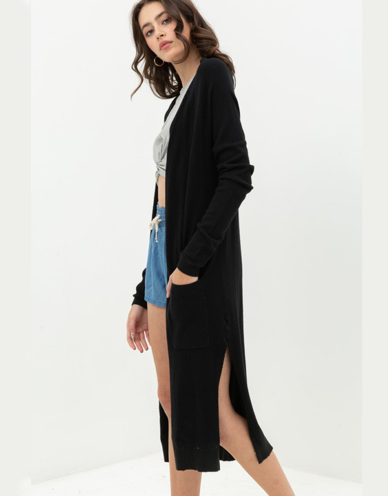 Longline Duster Cardigan Sweater